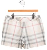 Burberry Girls' Nova Check Mini Shorts w/ Tags