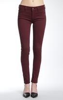 Mavi Jeans Alexa Skinny In Burgundy Sateen Twill