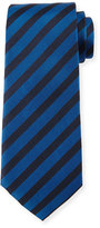 HUGO BOSS Striped Silk Tie, Blue