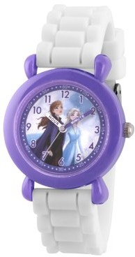 Disney Frozen 2 Elsa,Anna Grils' Purple Plastic Watch, 1-Pack