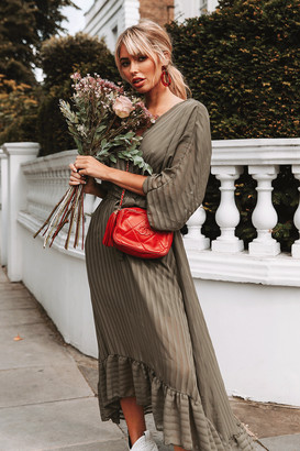 Bailey Khaki Stripe Maxi Dress