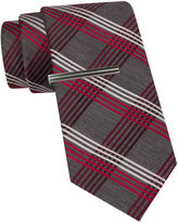 Jf J.Ferrar JF Plaid Tie and Tie Bar Set - Slim