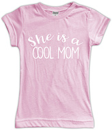 Urban Smalls Light Pink 'She's a Cool Mom' Fitted Tee - Toddler & Girls