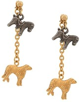 Marni Giga Jacks animal pendants earrings