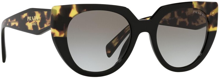 Thumbnail for your product : Prada Pr 14ws Black / Medium Tortoise Sunglasses