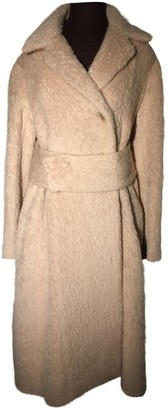 Celine Beige Wool Coat for Women