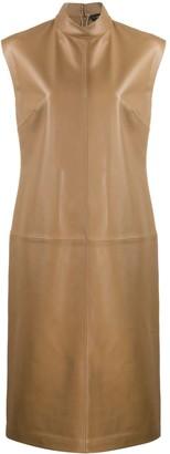 Joseph Leather Shift Dress