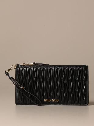 Miu Miu Wrist Clutch Bag With Credit Card Holder