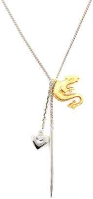 Wouters & Hendrix Dragon, Heart And Pin Pendant Necklace