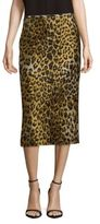 Dries Van Noten Leopard Print Midi Skirt