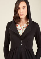 ModCloth Juneau How I Feel Jacket in Black in XS
