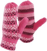 Universal Textiles Womens/Ladies Fairisle Pattern Winter Mittens