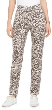 Style&Co. Style & Co Petite Animal-Print Tummy-Control Slim Jeans, Created for Macy's