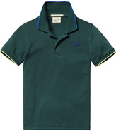 Scotch & Soda Short Sleeved Pique Polo