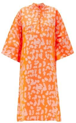 La Vie Style House - No. 530 Leopard-print Kaftan - Orange