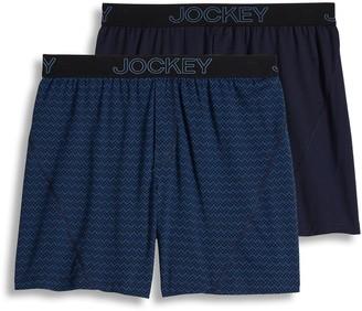 Jockey Men's 2-pack Knit No Bunch Boxers