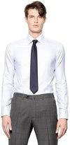 Brioni Slim Fit Cotton Jacquard Shirt