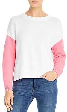 525 America Color-Blocked Split Back Sweater