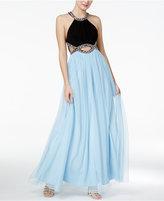 Blondie Nites Juniors' Cutout A-Line Gown