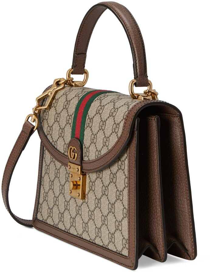 Thumbnail for your product : Gucci Ophidia small top handle bag with Web