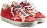 Golden Goose Deluxe Brand Super Star Metallic Leather and Suede Sneakers