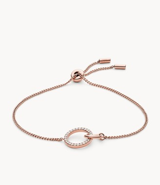 Fossil Rose Gold-Tone Stainless Steel Chain Bracelet jewelry JOF00638791