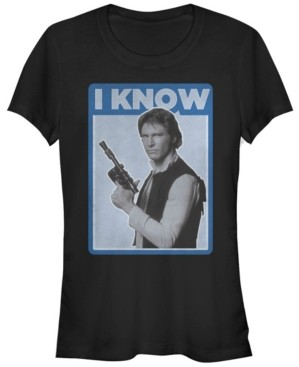 Fifth Sun Star Wars Han Solo Iconic Unscripted I Know Short Sleeve T-Shirt