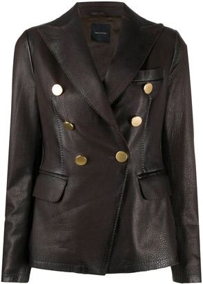 Tagliatore Lizzie leather jacket