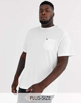 Tommy Hilfiger Big & Tall pocket crew neck t-shirt in white