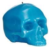 D.L. & Co. Medium Bright Blue Skull Candle