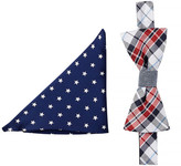 Alara Silk Plaid & Stars Bow Tie & Pocket Square Set