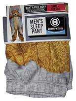 Briefly Stated Riding On A Teddy Bears Shoulders Gray Sleep Lounge Pants