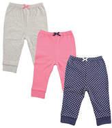 Luvable Friends Navy & Pink Joggers Set - Infant
