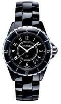 Chanel J12 Ceramic & Stainless Steel Bracelet Watch
