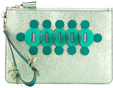 Anya Hindmarch embellished clutch bag - women - Calf Leather - One Size