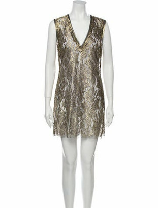 A.o.t.c. V-Neck Mini Dress Gold A.o.t.c. V-Neck Mini Dress