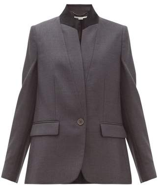 Stella McCartney Fleur Single Breasted Wool Jacket - Womens - Grey
