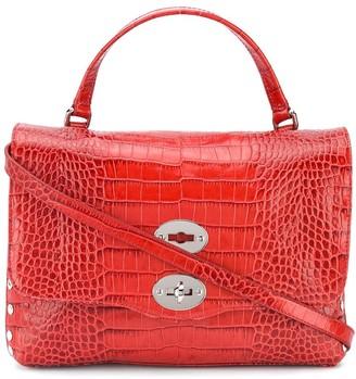Zanellato Twist-Lock Croc Effect Tote Bag