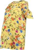 New Look Maternity JILL RUFFLE SHELL Blouse yellow