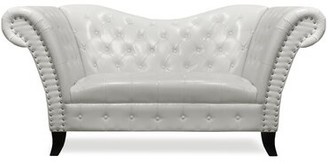 Warne 76'' Rolled Arm Loveseat Rosdorf Park Fabric: Ivory Faux Leather