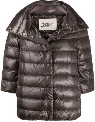 Herno Three-Quarter Sleeve Puffer Jacket
