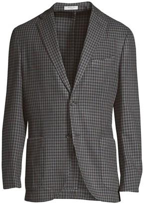 Boglioli Regular-Fit Wool Check Sportcoat