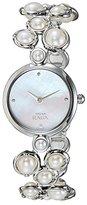 Titan Women's 9971SM01 Raga Pearl Analog Display Quartz Silver Watch