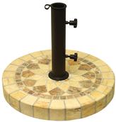 Natural Stone Mosaic Umbrella Base- Honeycomb
