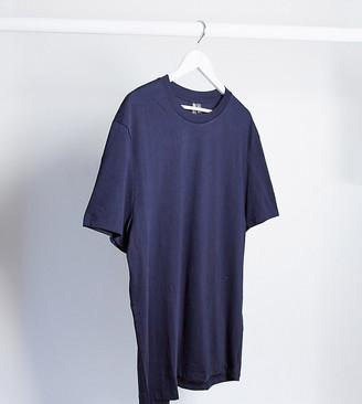 ASOS DESIGN Plus organic t-shirt in navy