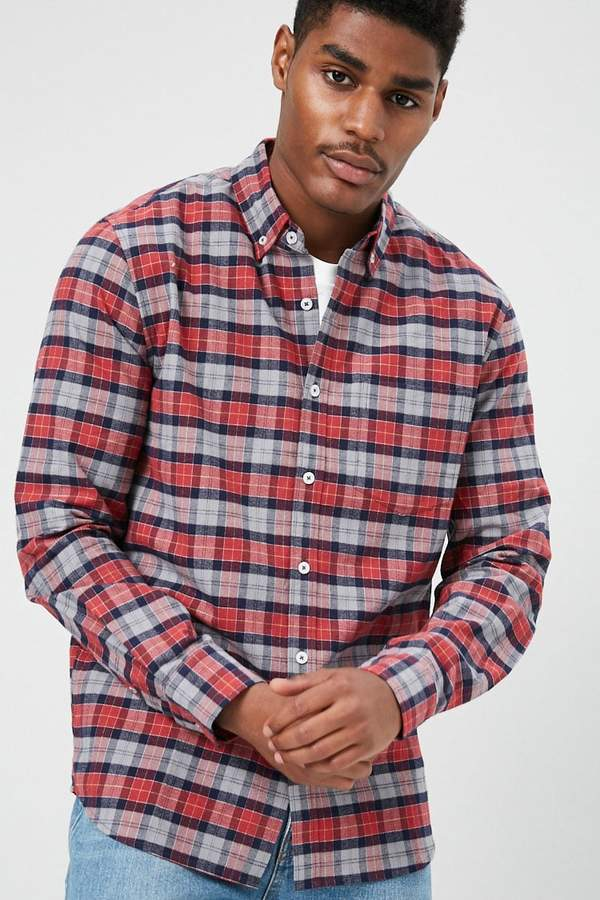 Forever 21 Plaid Fitted Shirt
