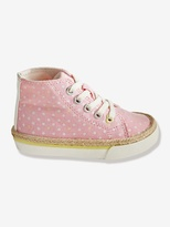 Vertbaudet Girls Canvas High-Top Trainers