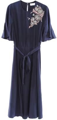 Megan Park Blue Silk Dress for Women