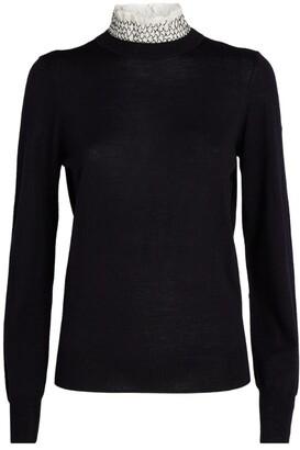 Sandro Smock-Collar Sweater