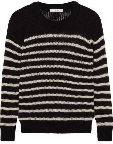 IRO Striped Knitted Sweater - Black